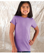 LAT Girls Fine Jersey Longer-Length Tee