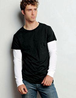 3510 Canvas Men's 4.5 oz. Anchorage Long-Sleeve 2-in-1 T-Shirt