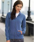 3655 LAT Ladies' French Terry Raglan-Sleeve Cadet Jacket