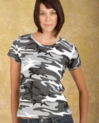 3665 Code V Ladies' Fine Jersey Camouflage T-Shirt