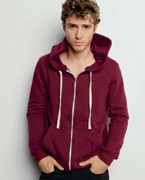 3909 Canvas Unisex 8.2 oz. Triblend Sponge Fleece Full-Zip Hoodie