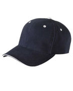 6262S Yupoong Brushed Cotton Twill 6-Panel Mid-Profile Sandwich Cap