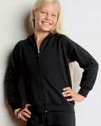 9007 Bella Girl's 7.5 oz. Full-Zip Hoodie