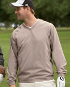 A47 adidas Golf Men's ClimaProof� V-Neck Wind Shirt