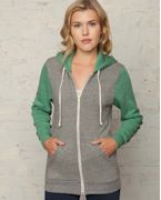 AA3203 Alternative Unisex 6.4 oz. Rocky Color-Blocked Full-Zip Hoodie