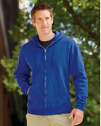 B280 Hanes 9 oz. Premium Cotton No-Shrink 80/20 Full-Zip Hood