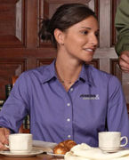 CH500W Chestnut Hill Ladies' 32 Singles Long-Sleeve Twill
