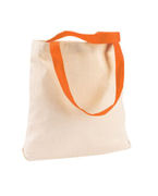 M910 Harriton 10 oz. Canvas Tote with Contrasting Handles